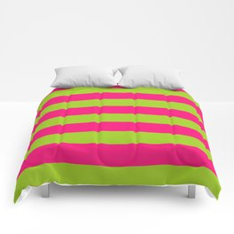 pink and green stripes Comforters