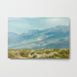 Mountains Above the Brushline (Sierra Nevadas, California) Metal Print