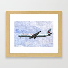 Air Canada Boeing 777 Art Framed Art Print