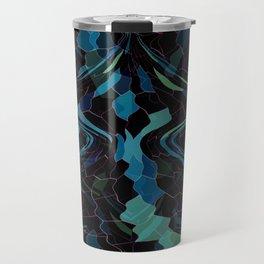 Deep Blue Mosaic Travel Mug