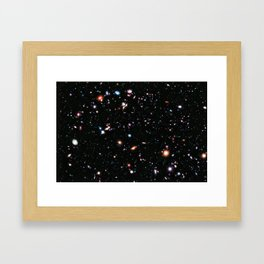eXtreme Deep Field, Galaxy Background, Universe Large Print, Space Wall Art Decor, Deep Space Poster Framed Art Print