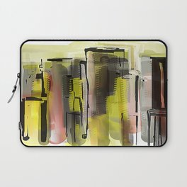 City in Yellow and Red Laptop Sleeve