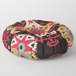 Kungrat Antique Uzbekistan Embroidery Print Floor Pillow