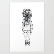 Wood Ear Mushroom Girl Art Print