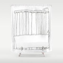 Bath In White Shower Curtain