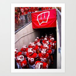 Wisconsin Badgers Art Print