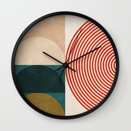 Geometric lines & shapes II circles Wall Clock