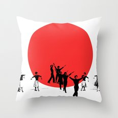 Dancing for Japan Throw Pillow