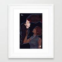 korrasami Framed Art Prints featuring KorrAsami by senju-swag