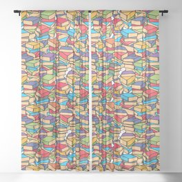 Maximalist Book Collector Sheer Curtain