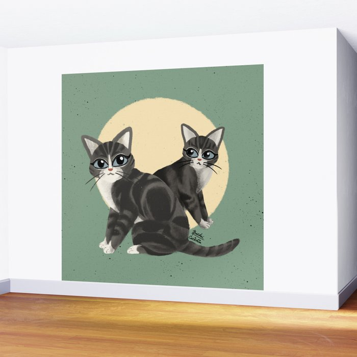 Lovely kitties Wall Mural
