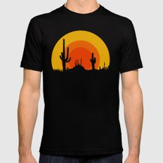 mucho calor Black Mens Fitted Tee MEDIUM