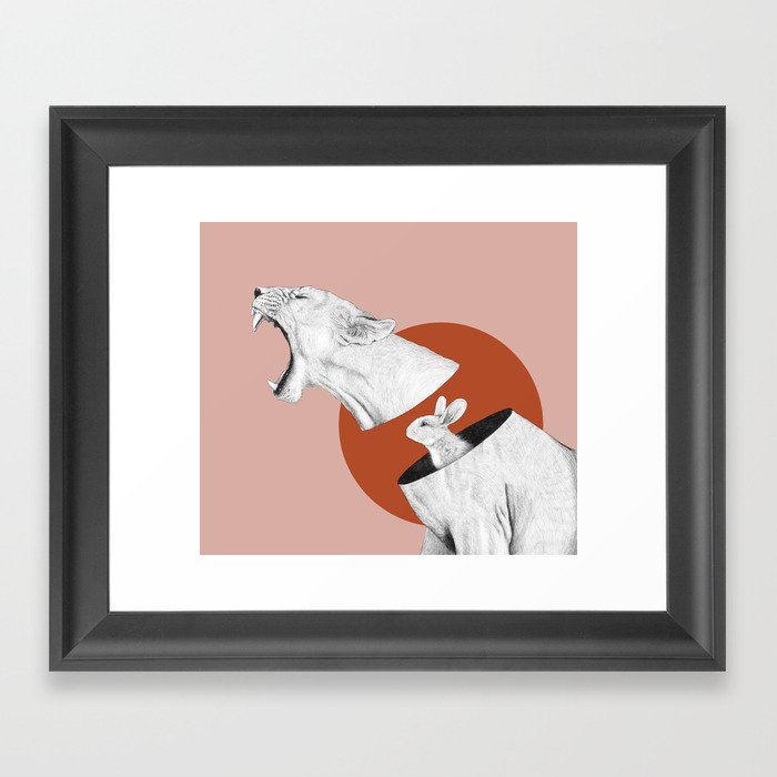 Lioness Bunny Gerahmter Kunstdruck