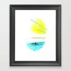 LIFE IS YOUR SANDBOX Framed Art Print