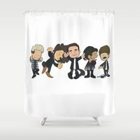 1d Shower Curtains featuring Schulz Dancing 1D by Ashley R. Guillory