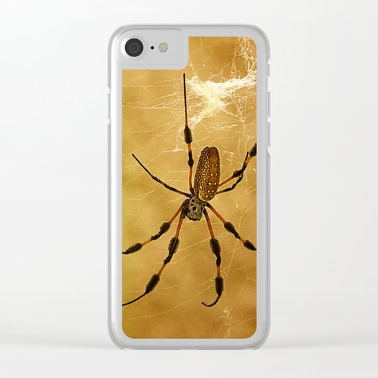 Banana Spider Clear iPhone Case