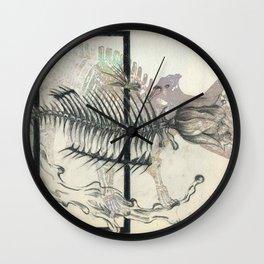 rose-Fish-bone dinosaur Wall Clock