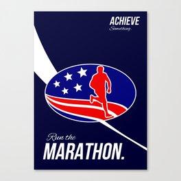 American Marathon Achieve Something Poster  Canvas Print