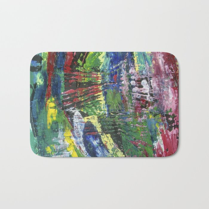 Abstract painting 12 Bath Mat