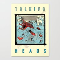 talking heads Canvas Prints featuring Talking Heads Limited Edition Music Poster Print by Nick Howland