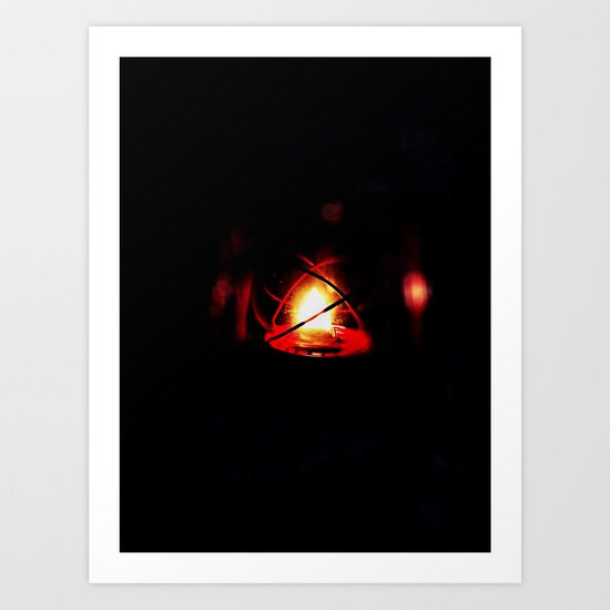 Caged Fire Art Print