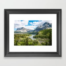 Glacier Lookout Framed Art Print