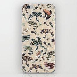 Frog pattern iPhone Skin