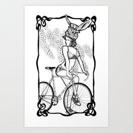 """Bicycle Race""  Art Print"