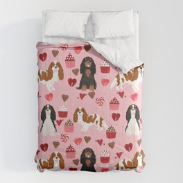 Cavalier King Charles Spaniel mixed coats valentines day dog breed must have cavalier spaniels gifts Comforters