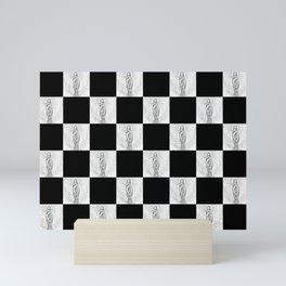Checkerboard Pussy Mini Art Print