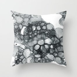 Ink Bubbles Throw Pillow