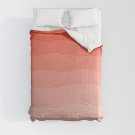 Living Coral Ombre Comforters