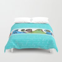 grafitti Duvet Covers featuring grafitti by Noush