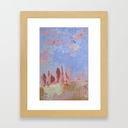 Standing Stone Circle in Pastels Framed Art Print