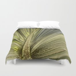 Leaf Peacock Duvet Cover