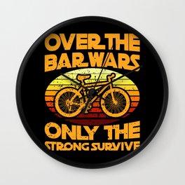 BAR WARS Funny Cycling Gift Bicycle Rider Wall Clock