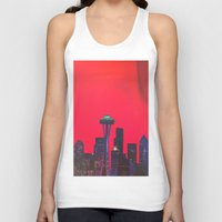 seattle Tank Tops featuring Seattle. by Daniel Montero