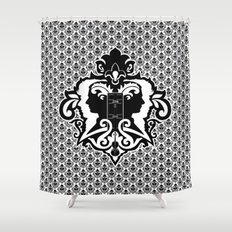 Detective's Damask Shower Curtain