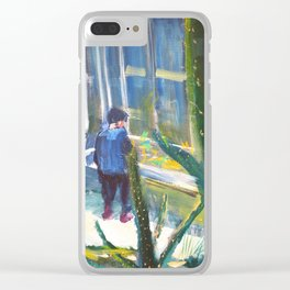 Greenhouse Cacti Clear iPhone Case