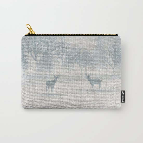 Winter scenery & deers Carry-All Pouch