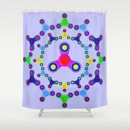 Fidget Spinner design version 2 Shower Curtain