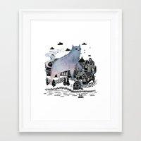 fog Framed Art Prints featuring The Fog by littleclyde