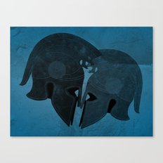 Helmet love Canvas Print