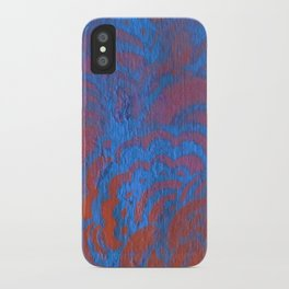 Drawing Meditation: Stencil 1 - Print 10 (blue) iPhone Case