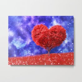 Cosmic love tree Metal Print