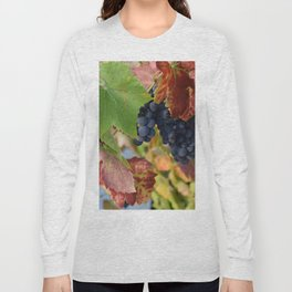 Grapes Ripening In The Vines Long Sleeve T-shirt