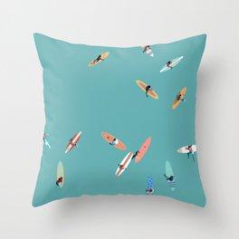 Surfing Saturdays Throw Pillow