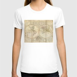 Vintage Map of The World (1799) 2 T-shirt