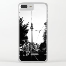 Berlin's streets in black and white 3 Clear iPhone Case
