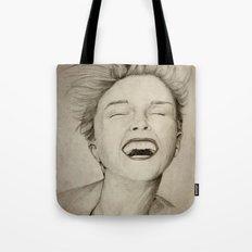 laughing girl Tote Bag